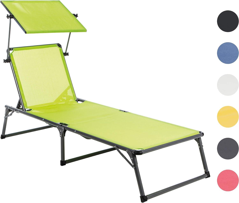 Ultranatura 20010000B63A - Tumbona de Aluminio con Techo, Color Verde: Amazon.es: Jardín