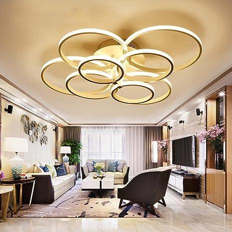 WEITING Super-sottile cerchio anelli moderna lampada a sospensione a ...