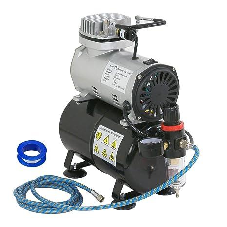 ubrtools 1/5 HP cepillo de aire compresor de aerógrafo con depósito de 3L pintura
