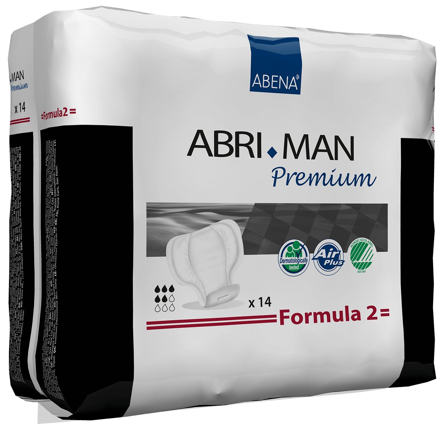 Abri-Man Male Pouch Incontinence Pads, Formula 2 (4 Cases of 168)