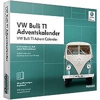 Franzis 67086 Adventskalender VW T1, Maßstab 1:43, in 24 Schritten zum Bulli unterm Weihnachtsbaum, inklusive Handbuch, für Liebhaber, Sammler und Modellbauer, ab 14 Jahren, bunt
