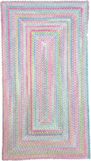 product image for Capel Baby's Breath Blue Kids Rug Size: Concentric Square 8'6""