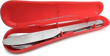 Nerthus FIH 460 - Set de Cubiertos portatil de Acero Inoxidable, INOX