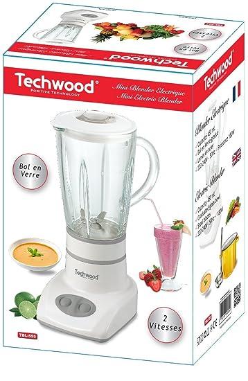 Techwood TBL-555 Batidora de vaso 0.45L 180W Blanco - Licuadora (0 ...