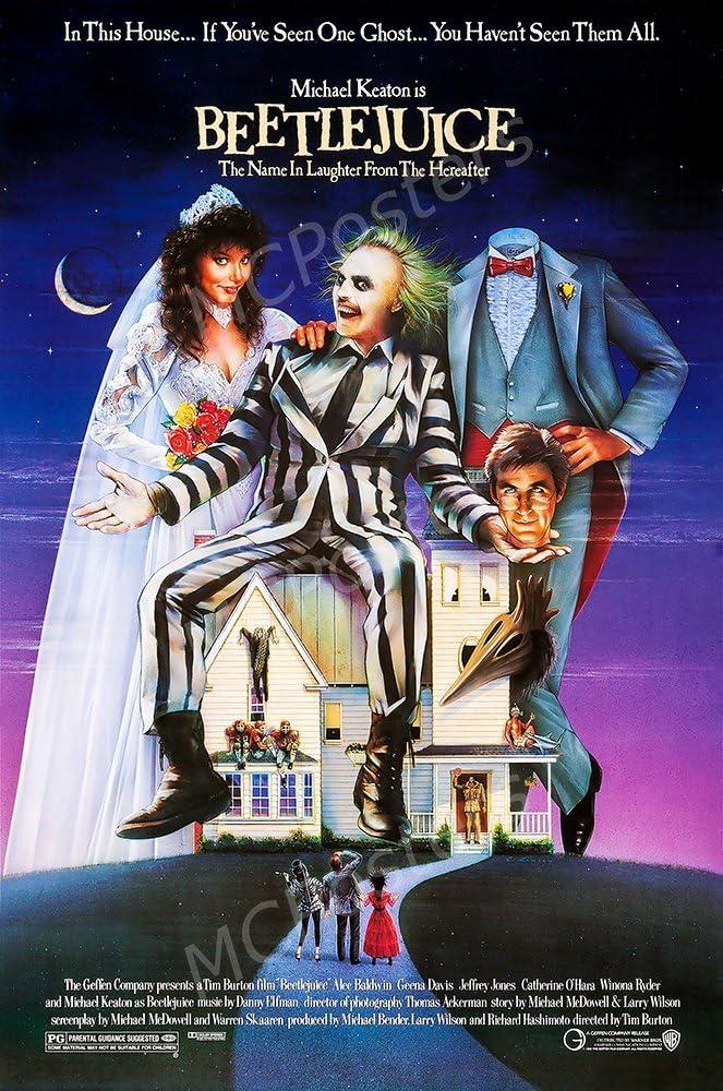 MCPosters Beetlejuice Michael Keaton GLOSSY FINISH Movie Poster - MCP149 (24