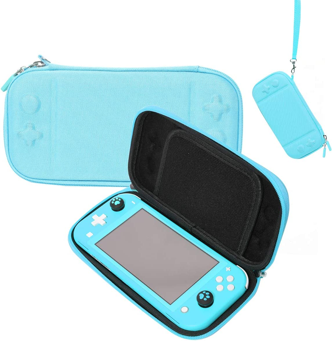 Carry Case for Nintendo Switch Lite, Protective Portable Carrying Cases Travel Storage Hard Shell with 8 Game Cartridges and Military Level Protection