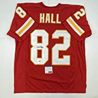 $124 » Autographed/Signed Dante Hall Kansas City Red Football Jersey PSA/DNA COA
