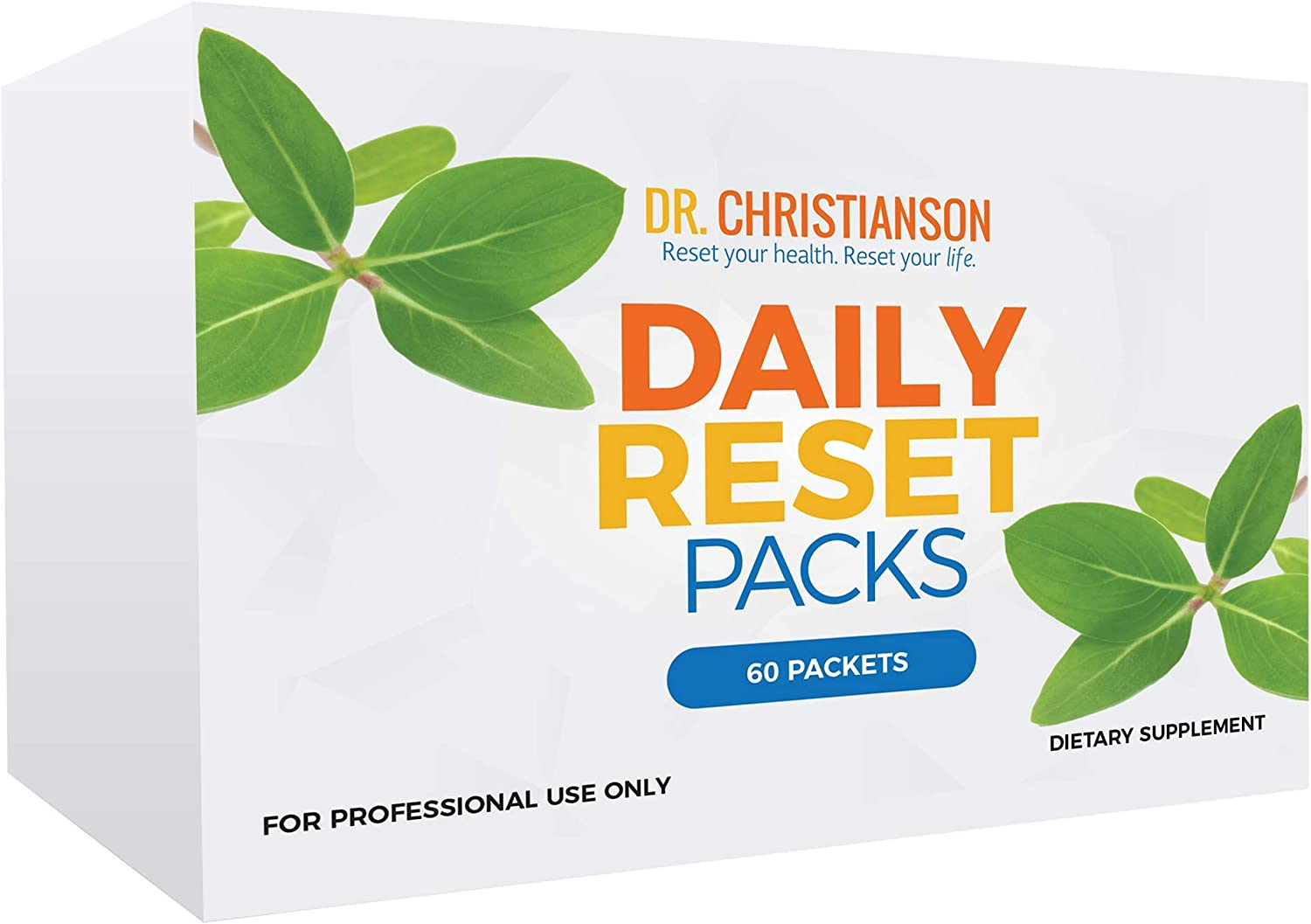 Dr. Christianson s Daily Reset Pack – Multi Vitamin, Fish Oil, Calcium, Vitamin D – 60 Individual Daily Packs