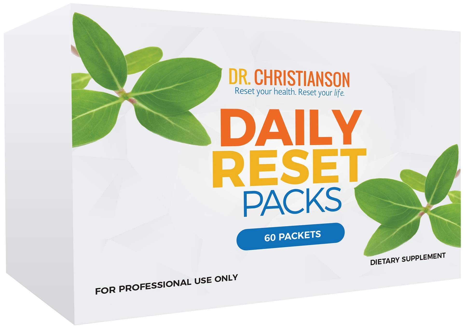 Dr. Christianson's Daily Reset Pack - Multi Vitamin, Fish Oil, Calcium, Vitamin D - 60 Individual Daily Packs by Dr Christianson