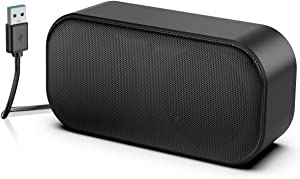 USB Computer Speakers, PC Mini Speakers for Desktop and Laptop, USB Powered Laptop Speaker with Stereo Sound & Enhanced Bass