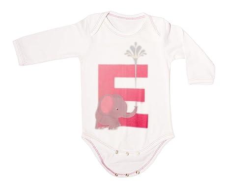 161f219ef44c Soft Organic Cotton Babywear Alphabet Print letterE Onesies (Baby ...