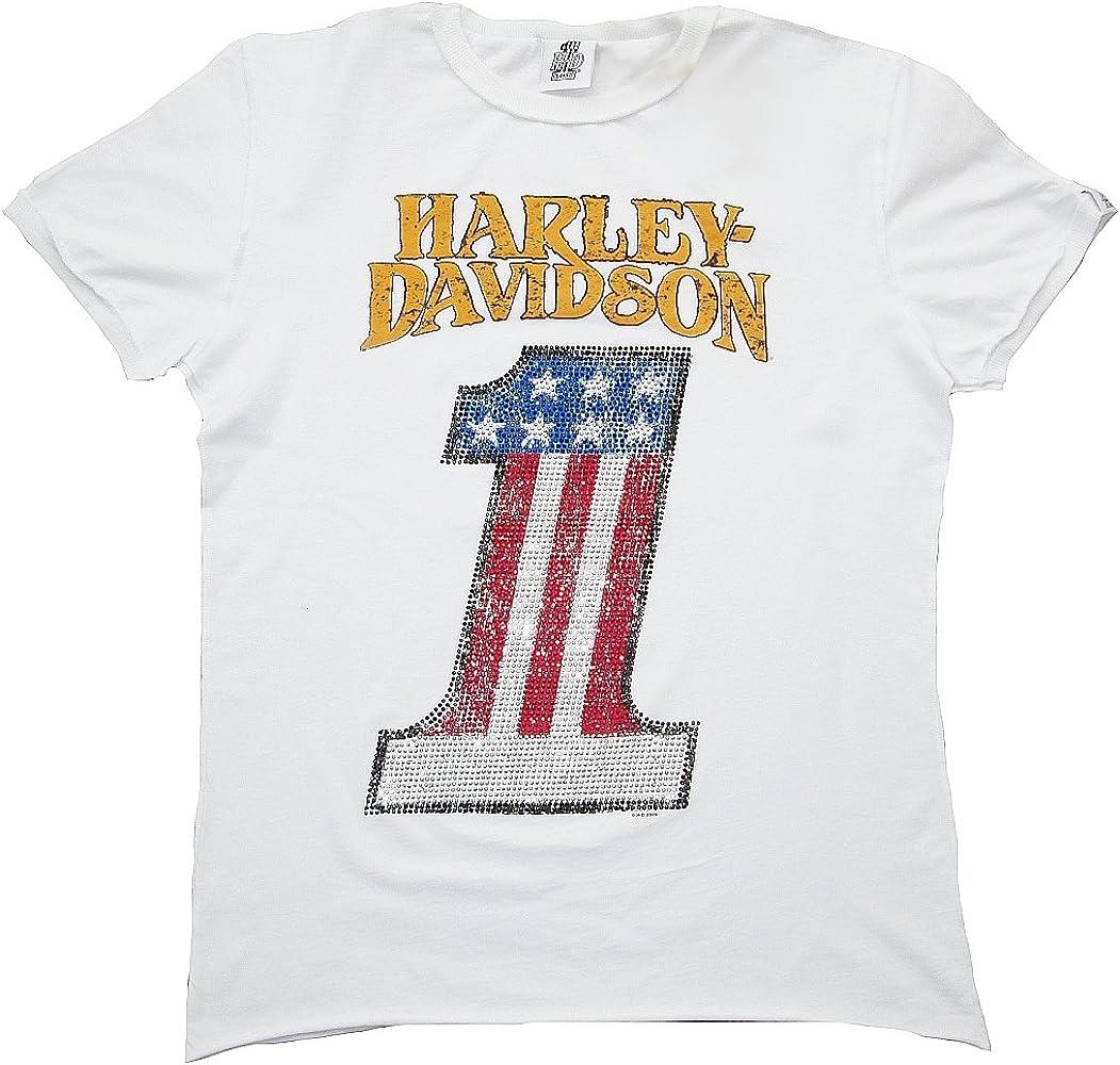 Harley-Davidson - Camiseta - para hombre blanco 46: Amazon.es: Ropa y accesorios