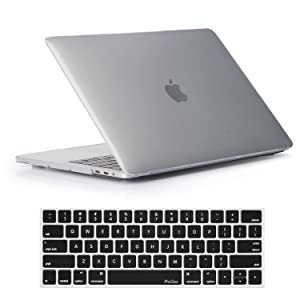 "Procase MacBook Pro 15 Case 2019 2018 2017 2016 Release A1990/A1707, Hard Case Shell Cover and Keyboard Cover for Apple MacBook Pro 15"" (2019/2018/2017/2016) with Touch Bar and Touch ID –Crystal"