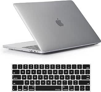 """ProCase Funda para MacBook Pro 13 A2159/A1706/A1708 2019/2018/2017/2016), Carcasa Dura Ultra Delgada Cáscara de Tapa y Protector del Teclado para Macbook Pro 13"""" con/sin Touch Bar Touch ID - Transparente"""