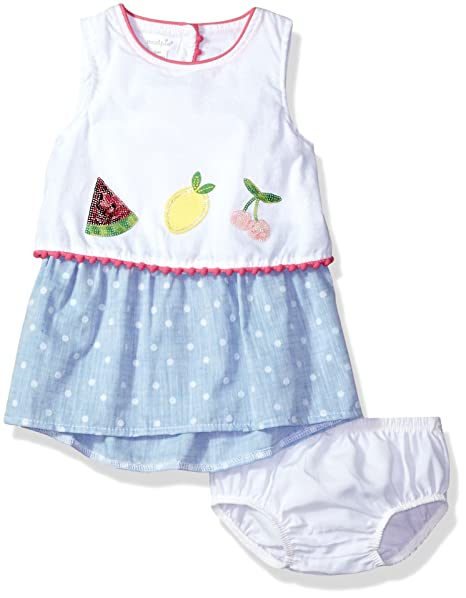 ee277795850 Amazon.com  Mud Pie Baby Girls Fruity Summer Casual Dress  Clothing