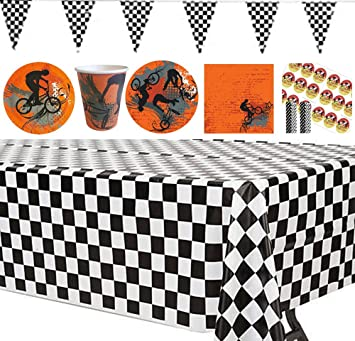 Amazon Com Dirt Bike Or Motorcross Birthday Party Decorations In