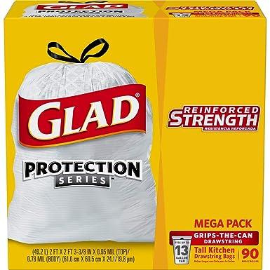 Amazon.com: Glad Tall - Bolsa de basura con cordón para ...