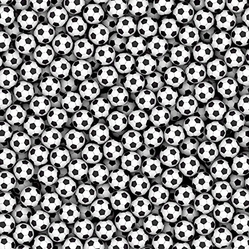 9-Feet wide by 9-Feet high. Prepasted wallpaper high quality mural from a photo of: Soccer Balls. Our murals are easy to hang remove and reuse (hang again) If you watch and do as in our video by Muralunique