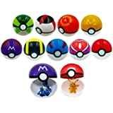 Moonideal 9 Pieces Different Style Ball +12 Pieces Figures Plastic Super Anime Figures Kids Toys Balls