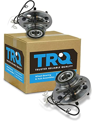 TRQ Front Wheel Hub & Bearing Pair Set for Chevy K1500 Pickup Tahoe w/ABS
