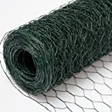 Recinto in Rete Metallica | Maglia Esagonale 25x25mm | Recinzione per animali e piante lunga 25 m | Altezza 50 cm| Plastificato 0,9mm