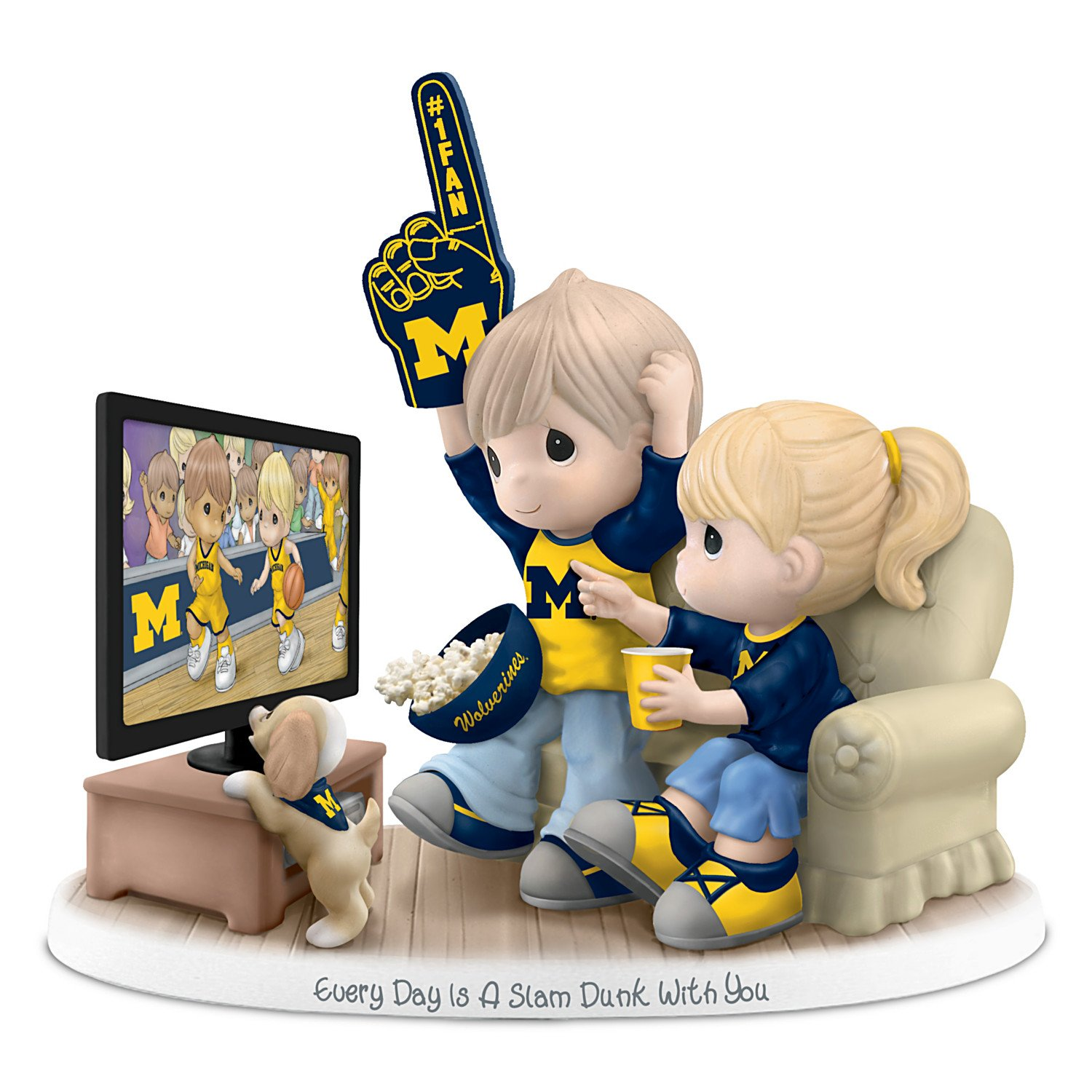 The Hamilton Collection Precious Moments Every Day Is A Slam Dunk With You University Of Michigan Wolverines Figurine