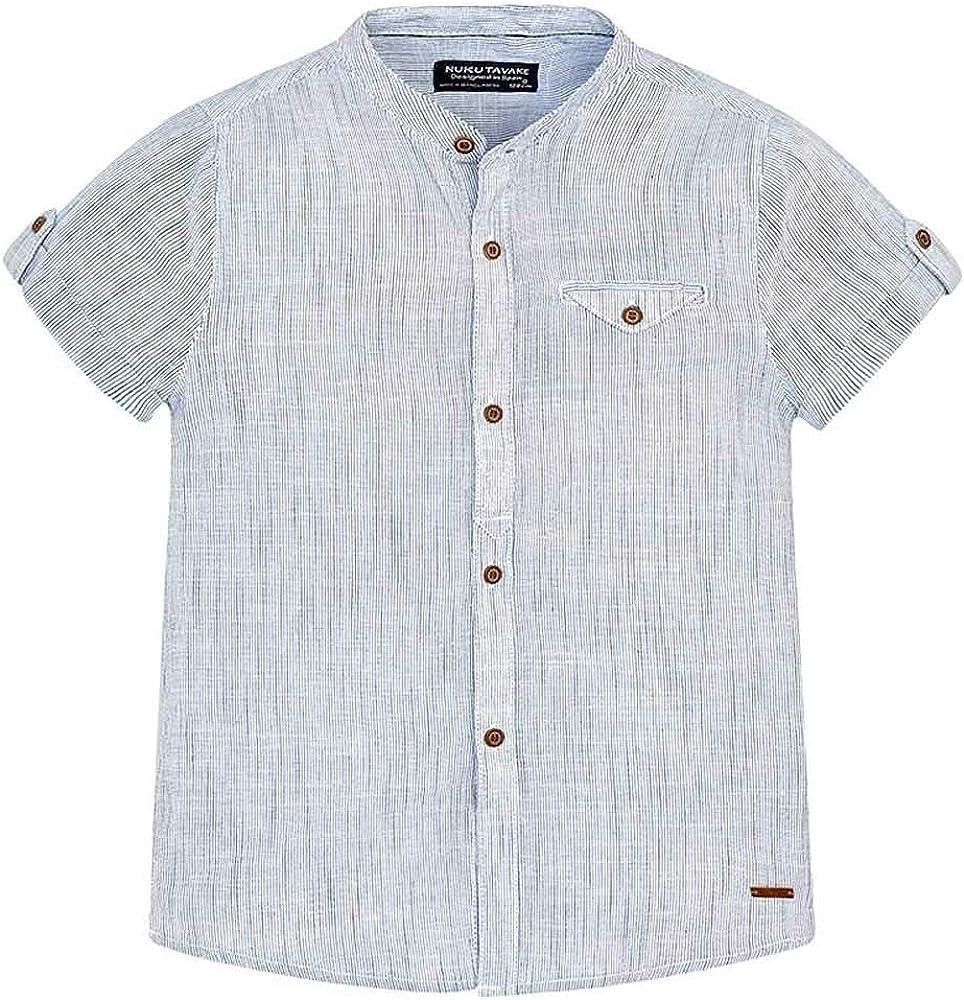 Mayoral Camisa m/c Cuello Mao Niño (10 años): Amazon.es: Ropa y accesorios