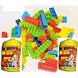 TEMSON Kids Big Size Blocks Set in Bag ( Multicolored) 55 Pieces