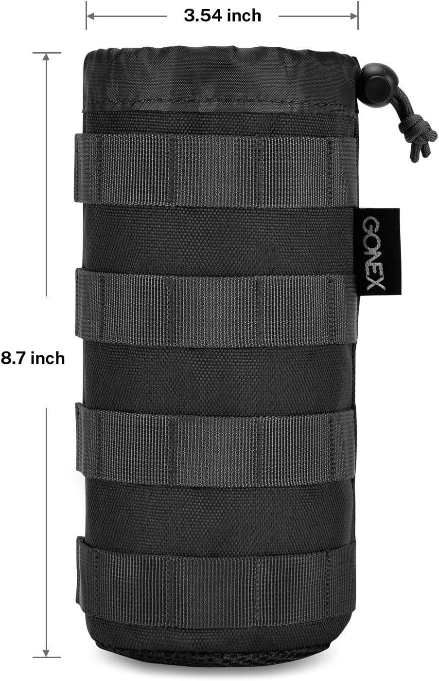 Gonex Sac pour Bouteille Deau Pochette Gourde Tactiquel Militaire MOLLE En Nylon Cordon Serrage Pour Camping Randonn/ée Cyclisme Chasse Trekking Voyage Sport