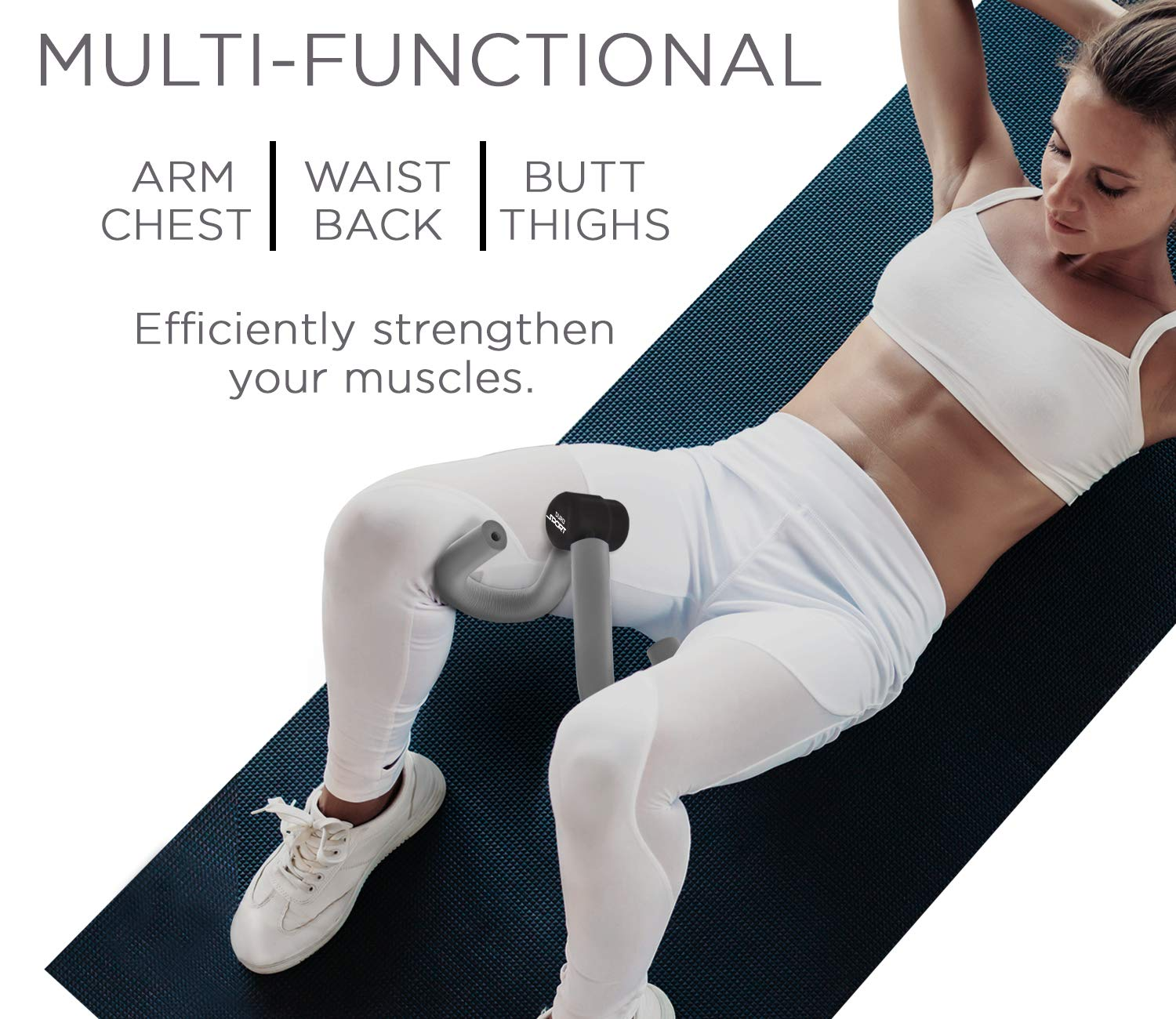 Gray Arm Workout Leg Exercise Thigh Master Trimmer Inner Thigh Exercise Equipment All in One Trainer Aduro Sport Thigh Toner Workout Equipment