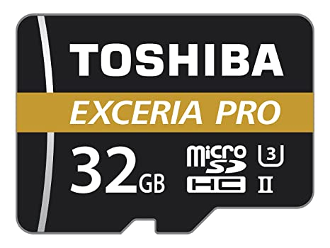 Toshiba THN-M501G0320E7 - Tarjeta de Memoria (MicroSDHC, Negro, Naranja, Color Blanco, UHS-II, Class 10, SD)