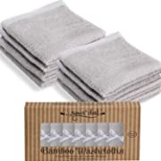 SWEET CHILD Bamboo Baby Washcloths (Bonus 8-Pack) - Premium Extra Soft & Absorbent Towels for Baby's Sensitive Skin-Perfect 10 x10 -Excellent Baby Shower/Registry Gift (10 x10 , Grey)