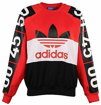 adidas Originals Mujer Topshop Superstar Sudadera Extra pequeño Red-White-Black: Amazon.es: Deportes y aire libre