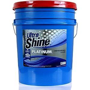 Shine Platinum Dish Soap, 5 gal, 640 oz.