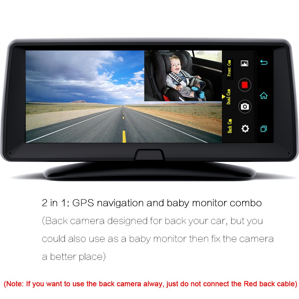 "Amazon.com: DDAUTO Android GPS Navigation Car with Dash Cam Camera DVR, 6.9"" Touch Screen, Support Bluetooth/WiFi/FM, Dual Lens Video Recorder: GPS & ..."