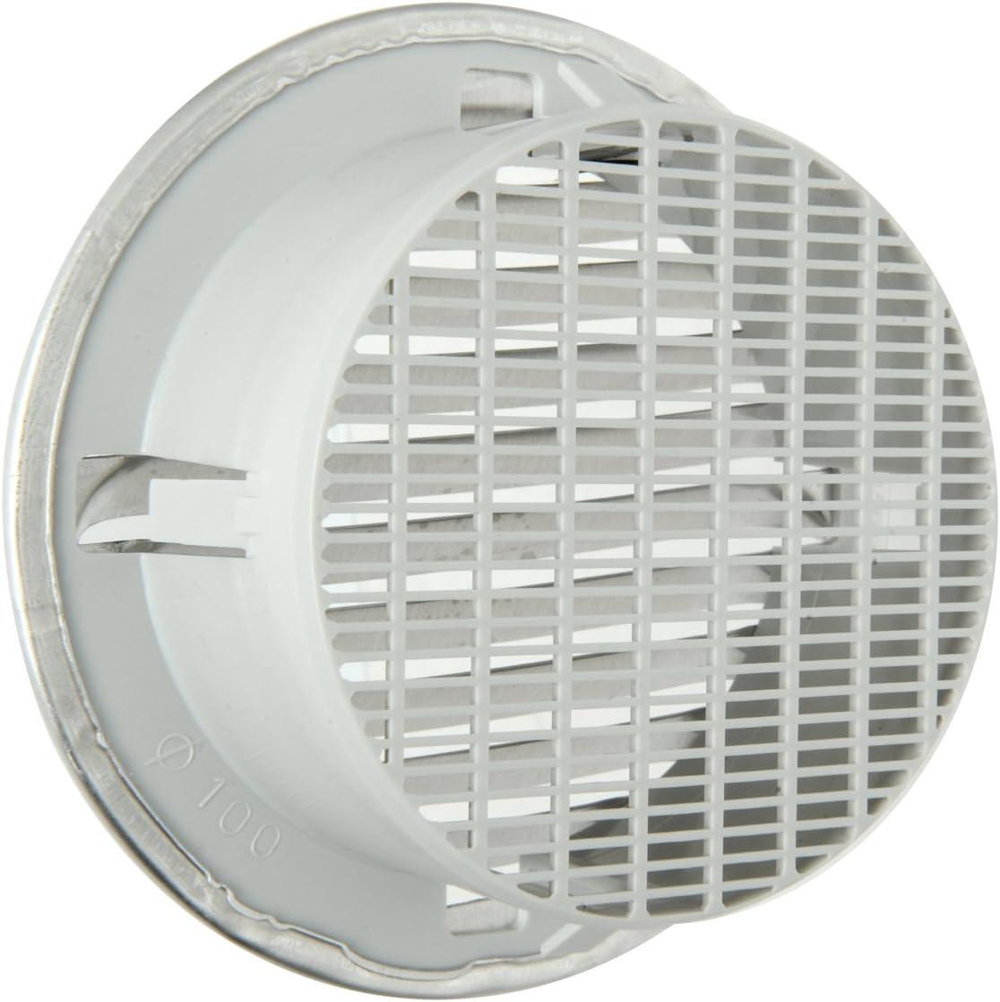 125 mm Alluminio La Ventilazione GTAP100R Griglia Tonda da Incasso