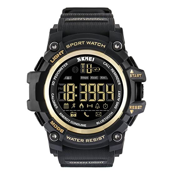 Vemupohal Reloj Inteligente LED Digital Para Hombre SmartWatch 50M Resistente al Agua Deportivo Estilo Milita Reloj de Pulsera llamada… bOFSEMOkF