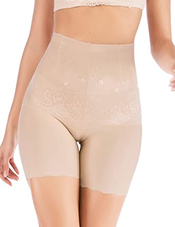 a9dbe688b3 SLTY Thigh Slimmer Shapewear Tummy Control High Waist Body Shaper Butt  Lifter Shorts Seamless Panties at Amazon Women s Clothing store