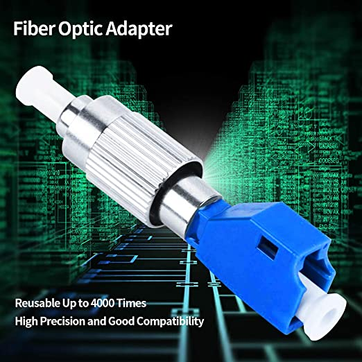 Optical 2.5Mm To 1.25Mm Fc Female To Lc Male Fiber Optic Adapter Coupler