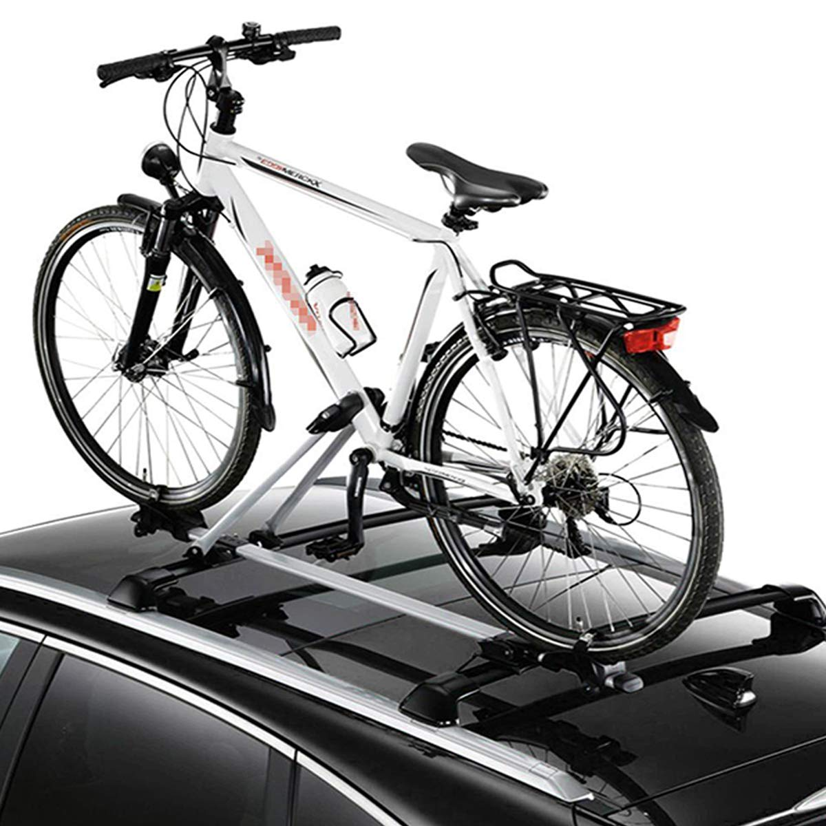 WOLTU 2 x Bike Carrier Car Roof Rack Bike Holder Made of Aluminum and Steel FZ1120-2