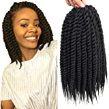 Dingxiu (6 Packs,18 inch) Havana Mambo Twist Crochet Hair Braids Senegalese Twist Crochet Braiding Hair
