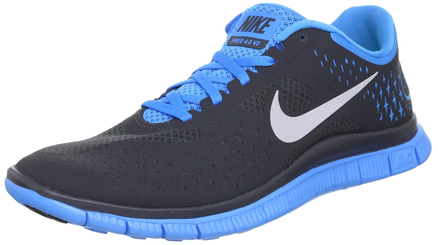 cheap for discount 285ed 1d851 Nike Free 4.0 V2 Anthracite Blue Glow Mens Lightweight Running Shoes  511472-004