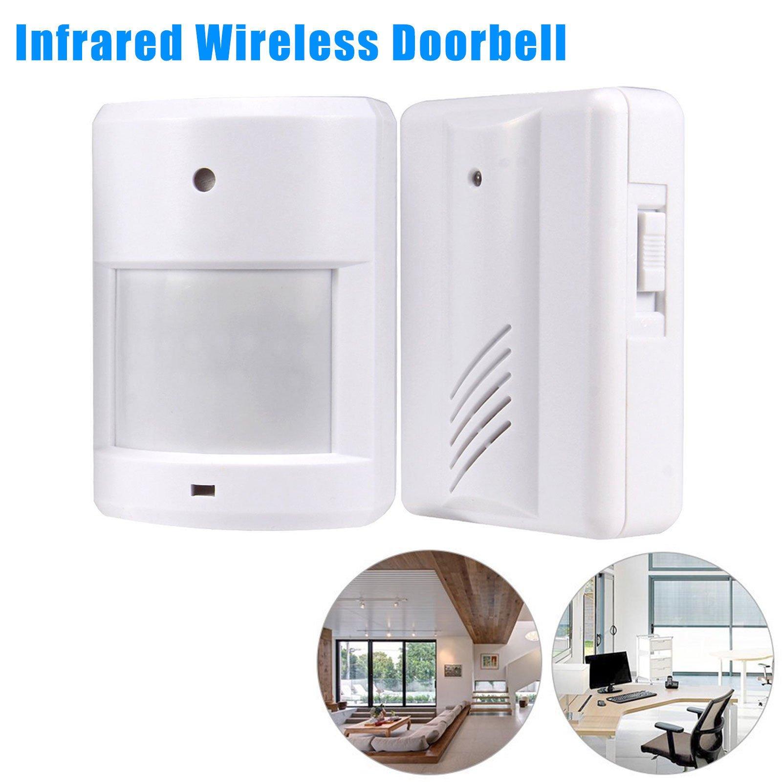Wireless Doorbell Chime Kit, LinkStyle Driveway Patrol Garage Infrared Motion Sensor Wireless Alert Alarm Detector