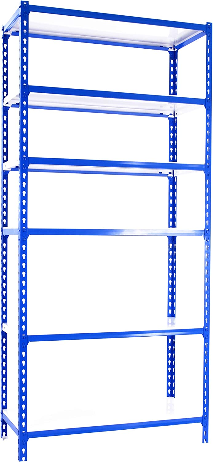 1800 x 800 x 300 mm SimonRack SI390 Kit Estanter/ía con 5 Estantes Azul//Naranja//GALVA
