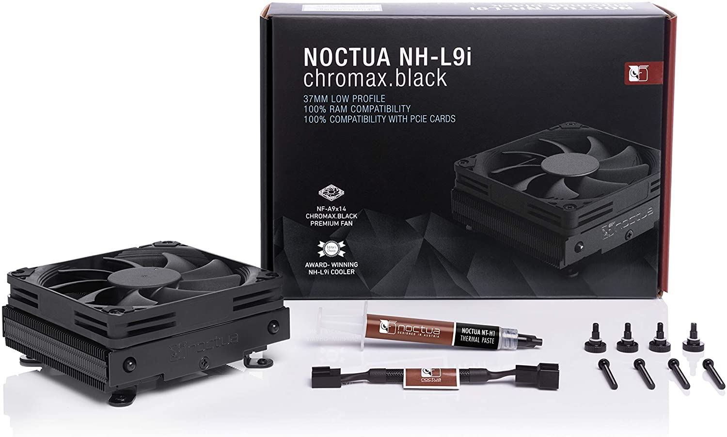 Noctua NH-L9i chromax.Black Low-Profile CPU Cooler for Intel LGA115x Black