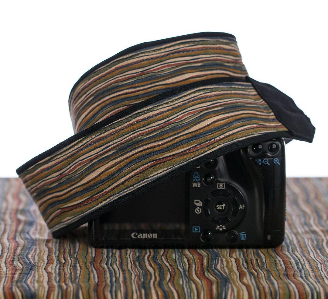 Camera Strap, Rustic Stripe Brown 077 Fits dSLR, SLR and Mirrorless Cameras