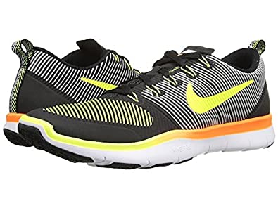 NIKE Mens Free Train Versatility Black/ Volt/ Orange Training Shoes 13