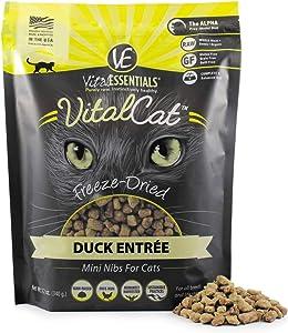 Vital Essentials Vital Cat Freeze-Dried Grain-Free Duck Mini Nibs Cat Food, 12 oz.