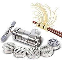 Machine à pâtes manuelles en acier inoxydable portatif avec 5 x moules
