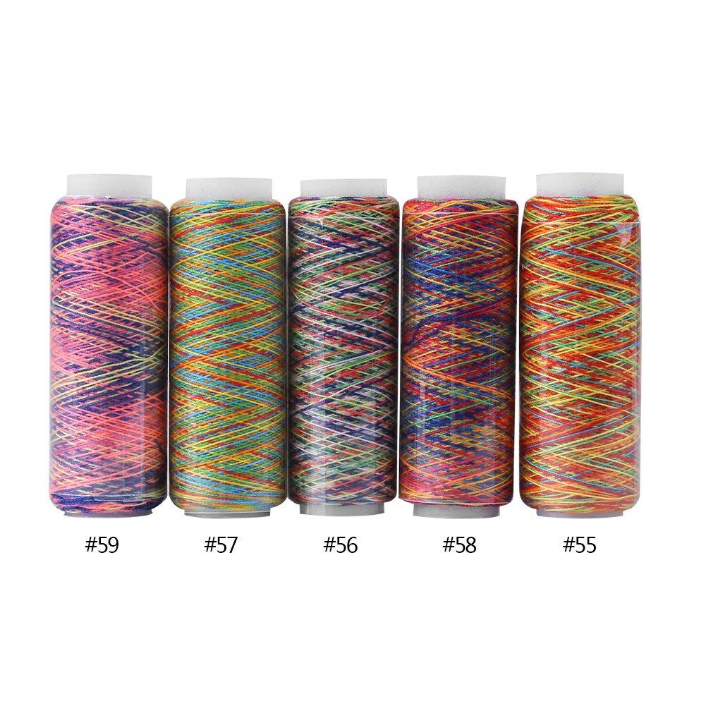 5 Unids//set Multicolor Gradiente Costura Acolchado Hilo de bordar Carretes Suministros de Costura Para DIY Costura